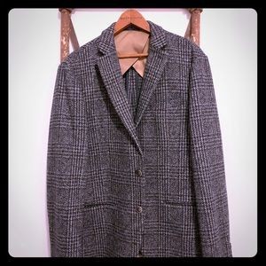 Selected home plaid wool blazer